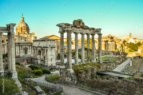 Foro Romano used to be the city center of the great Roman Empire in ancient times Canvas Print