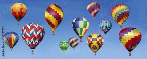 Canvas Prints Balloon Panorama of Hot Air Balloons Ascending