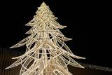 Fototapeta Do akwarium - Christmas tree made of lights - Christmas illumination.