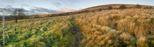 Photo Outdoor panoramic of English moorland