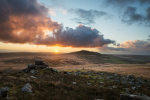 Bodmin Moor In Cornwall, With ...