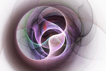 Abstract Rose And Green Swirly Shapes. Fantasy Colorful Chaotic Fractal Texture. 3D Rendering.