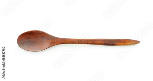 Obraz na plátně wood spoon on white background.