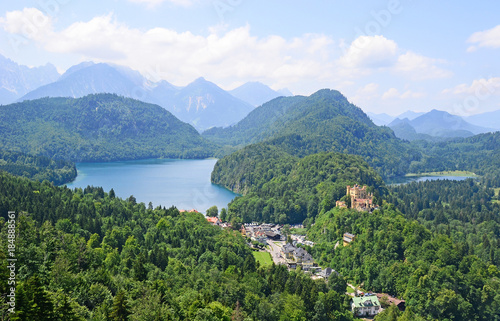 Stickers pour porte Pierre, Sable View of Hohenschwangau in Germany, Europe