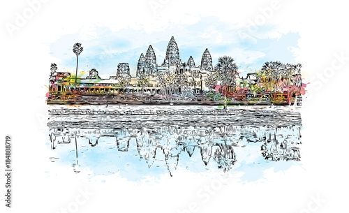 Foto  Angkor Wat Temple, Cambodia