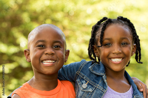 Photo  Happy African American Family.