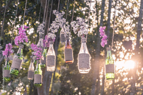 DIY decoration design for wedding romantic events Fototapete
