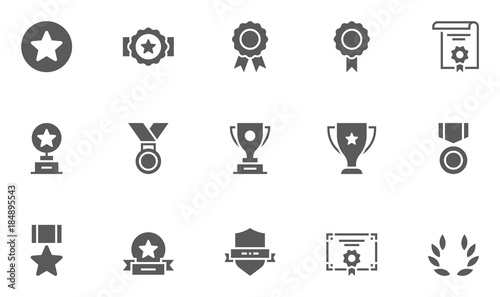 Leinwand Poster Set of Winning Vector Icons. 48x48 Pixel Perfect.