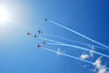 Aerobatic Team Performs Flight...