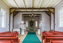 Honningsvag Church In Finnmark County, Norway.