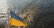The Ukrainian Flag Flies Freel...