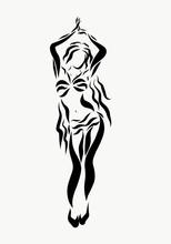 A Charming Woman Dancing An Oriental Dance