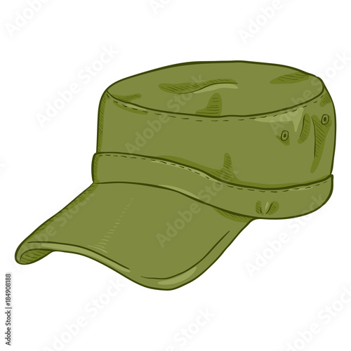 Vector Cartoon Army Cap. Summer Military Head Gear