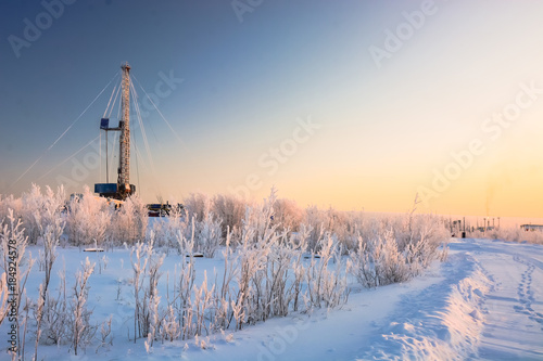 In the northern oil and gas field  Drilling rig  - Buy this stock
