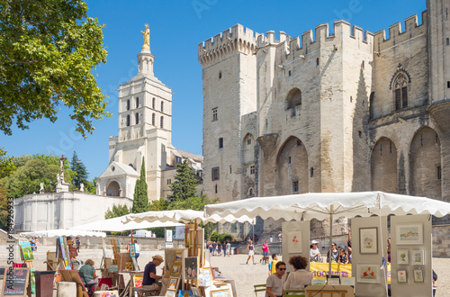 Foto op Canvas Monument Architectures and monuments of Avignon