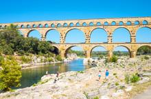 The Pont Du Gard Roman Aqueduct