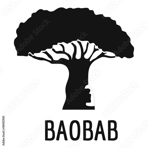 Canvas Print Baobab tree icon