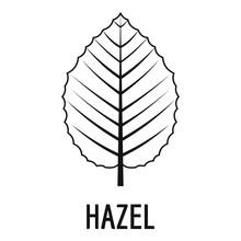 Hazel Leaf Icon. Simple Illust...