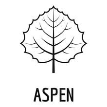 Aspen Leaf Icon. Simple Illustration Of Aspen Leaf Vector Icon For Web