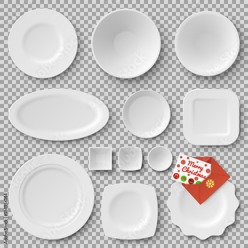 Collection of Plates, Letter Vector Illustration Poster