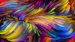 canvas print picture - Elegance of Liquid Color