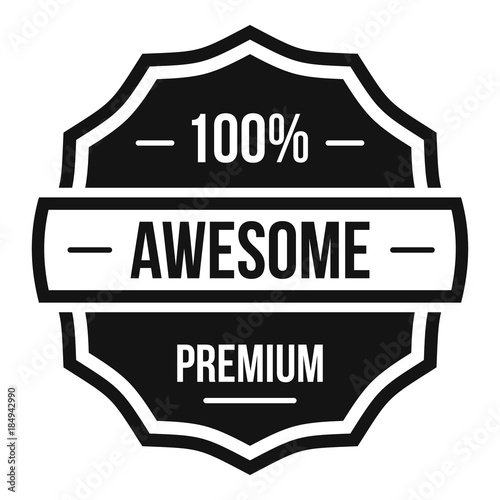 Photo Awesome logo. Simple illustration of awesome vector logo for web