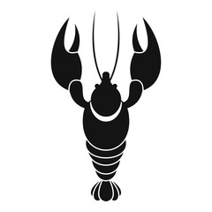 Lobster icon. Simple illustration of lobster vector icon for web