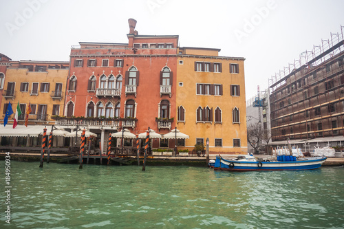 Canvas Prints Famous palaces on the Grand Canal in Venice, Italy. Moisture