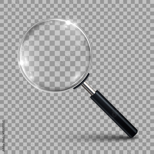 Magnifying glass – vector Wall mural