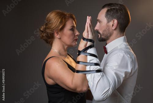 Man and woman romantic sex