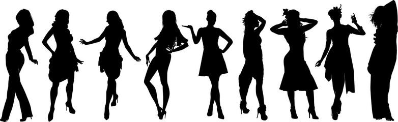 女性モデルのシルエット