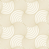Pattern seamless circle abstract wave background stripe gold luxury color and line. Geometric line vector. Christmas background. - 184969362