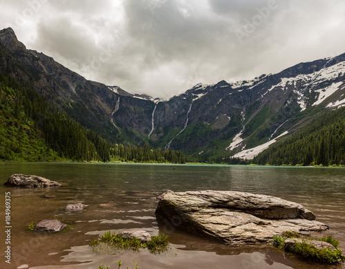 Fotografie, Obraz  Stormy day at Two Medicine Lake Glacier National Park