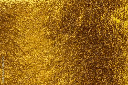 fond feuille d'or jaune Wallpaper Mural