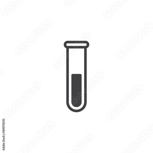 Photo  Test tube icon vector, filled flat sign, solid pictogram isolated on white