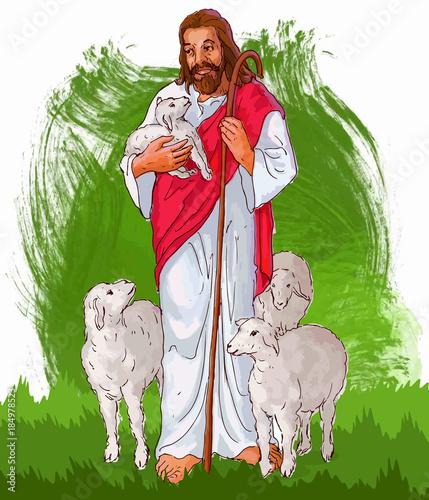 Fotografía painting style illustration of Jesus Christ ( yeshu )