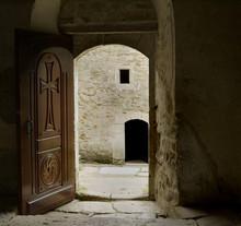 Door Leading To The Monastery Yard