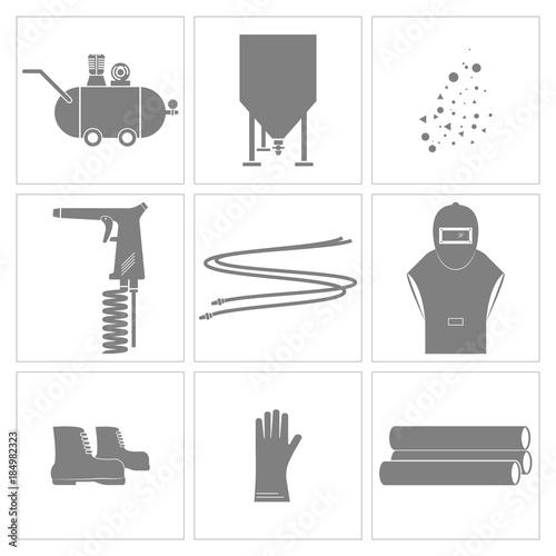 Sandblasting and equipment tools icon., Vector, Illustration Tapéta, Fotótapéta