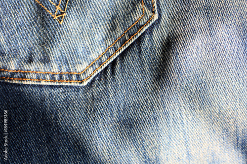 Photographie  Jeans background, denim with seam of fashion design