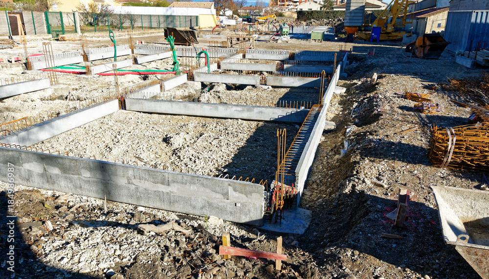 Fototapeta Travaux de construction