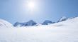 Leinwanddruck Bild - Schneelandschaft
