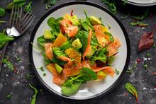 Fresh Salmon Salad With Avocad...