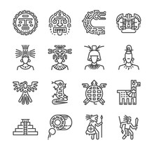 Aztec Icon Set. Included The I...