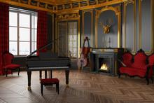 Schloss - Klavier - Kamin - Mu...