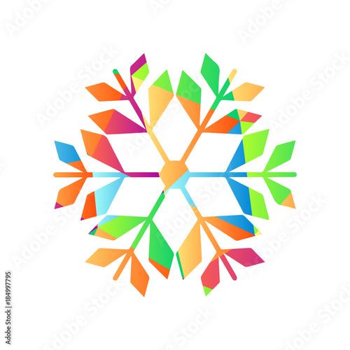 Farbenfrohes Symbol Schneeflocke Christbaumschmuck Buy This