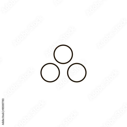 Fototapeta Snowballs icon. flat design obraz na płótnie