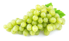 Green Grape With Leaves Isolat...
