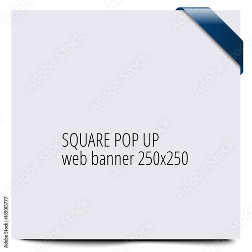 Poster  Square pop up web bunner 250x250