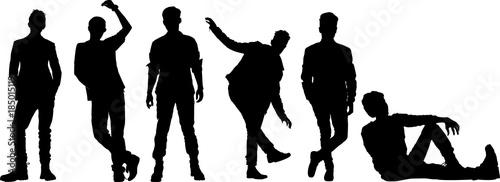 男性ファッションモデルのシルエット