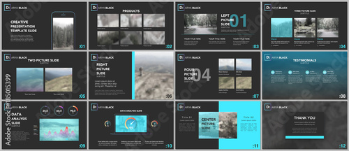 Clean and minimal presentation templates Fototapet